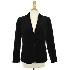 Lauren Ralph Lauren Black Cotton Velvet Blazer